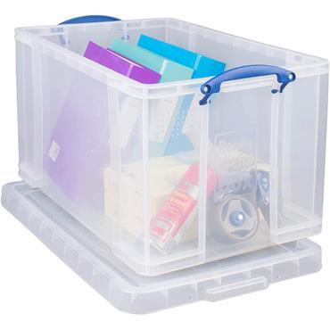 Really Useful 84 Litre Plastic Storage Box, 710 x 440 x 380mm (W x D x H)