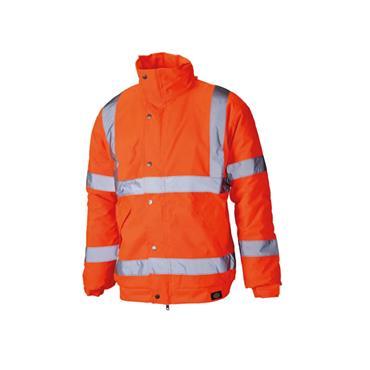 Dickies SA22050 High-Visibility Waterproof Bomber Jacket - Orange