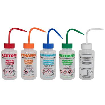 Azlon LDPE Safety Venting Wash Bottles