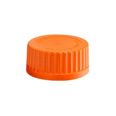 CITEC 1395-45LTC Corning® GL45 Orange Polypropylene Screw Cap with Plug Seal, Pack of 20