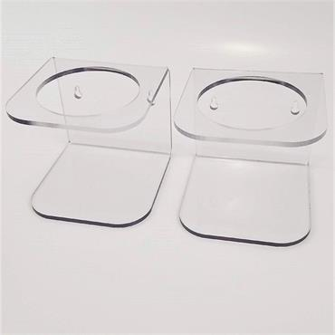 """S-CURVE BH-145 Wall Mounted Bottle Holders 4.5"""" diameter"""