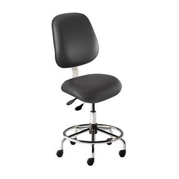 BIOFIT EMS-M-RC-FFAC-XF-XA-ISO6 Vinyl upholstery Chair, Black