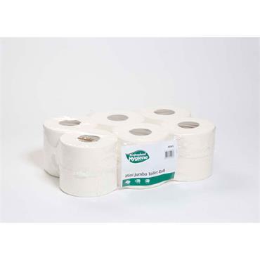 Citec MIN12 Mini Jumbo Toilet Roll 2 Ply, 150m x 9.5cm, 12 Rolls per case