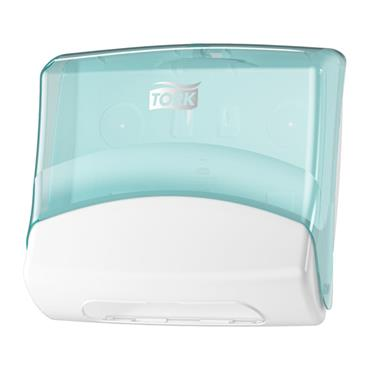 Tork 654000  Folded Wiper/Cloth Dispenser White/Turquoise