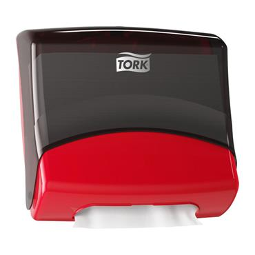 Tork 654008  Folded Wiper/Cloth Dispenser Red/Smoke