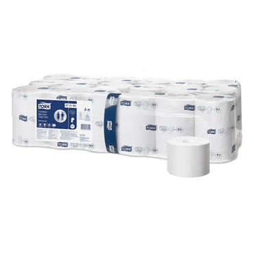 Tork 472199 Coreless Mid-Size Toilet Roll Advanced - 2 Ply, White, Case of 36