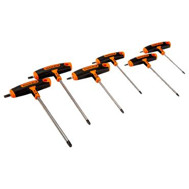 Bahco 903T-2 6 Piece T-Handle Torx Screwdriver Set