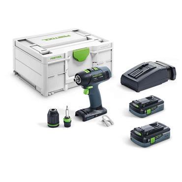 Festool 576447 T18+3 HPC Lithium-Ion 18 Volt Drill Driver, 2 x 4.0Ah Batteries