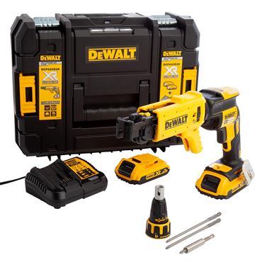 DeWALT DCF620D2K 18 Volt Brushless Collated Screwdriver Kit, 2 x 2.0Ah Batteries