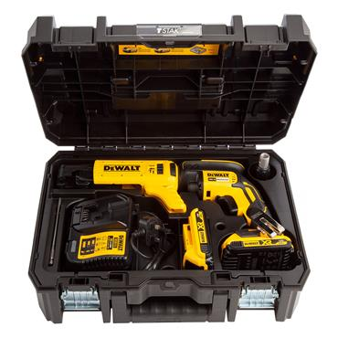DeWALT DCF620D2K 18 Volt Brushless Collated Screwdriver Kit, 2 x 2.0Ah Batteries