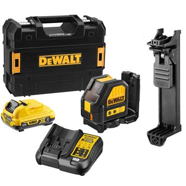 DeWALT DCE088D1G 12 Volt Cross Line Green Laser, 1 x  2.0Ah Battery