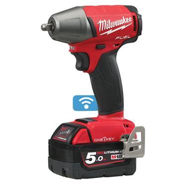 """Milwaukee M18 ONEIWF38-502X 18 Volt 3/8"""" Impact Wrench, 2 x 5.0Ah Batteries"""