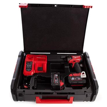 Milwaukee M18FQID-502X 18 Volt Fuel Hydraulic Impact Driver, 2 x 5.0Ah Batteries