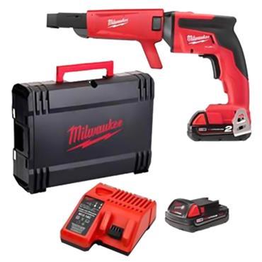 Milwaukee M18FSGC-202X 18 Volt M18 Fuel Drywall Screw Gun, 2 x 2.0Ah Batteries