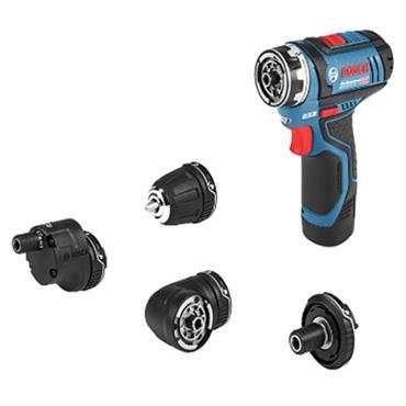 Bosch GSR 12 V-15 FC Set 12 Volt Drill Driver 2 x 2.0Ah Batteries