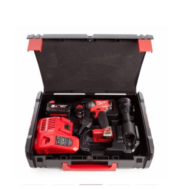 Milwaukee M18ONEPP2K-522K One Key Fuel Powerpack M18 ONEID Imp Driver + M12 MLED Torch, 1 x 2.0Ah  &