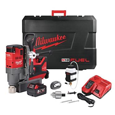 Milwaukee M18FMDP-502C 18 Volt Magnetic Drill Stand Kit, 2 x 5.0Ah Batteries