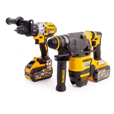 DeWALT DCK2033X2 54 Volt Brushless Twin Pack, 2 x 9.0Ah Batteries