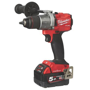 Milwaukee M18 ONEPD2-502X 18 Volt One-Key Fuel Percussion Combi Drill, 2 x 5.0Ah Batteries