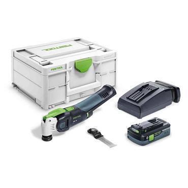 Festool 576596 18 Volt Cordless Oscillator Multi-Tool Kit, 1 x 4.0Ah Batteries