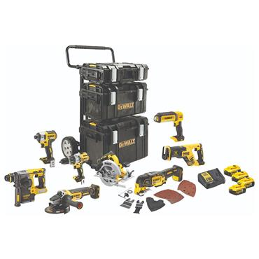 DeWALT DCK853P4 18 Volt 8 Tools Brushless Combo Kit, 4 x 5.0Ah Batteries