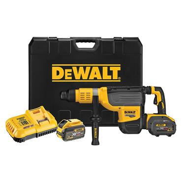 DeWALT DCH773Y2 54 Volt SDS-Max Brushless Rotary Hammer Drill, 2 x 12.0Ah Batteries
