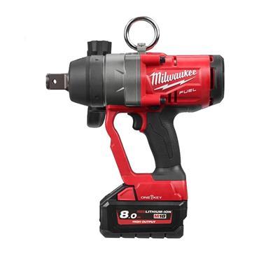 """Milwaukee M18ONEFHIWF1-802X 18 Volt High-Torque 1"""" Impact Wrench, 2 x 8.0Ah Batteries"""