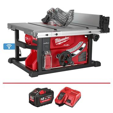 Milwaukee M18FTS210-121B 18 Volt One Key Fuel Cordless Table Saw, 1 x 12.0Ah Battery