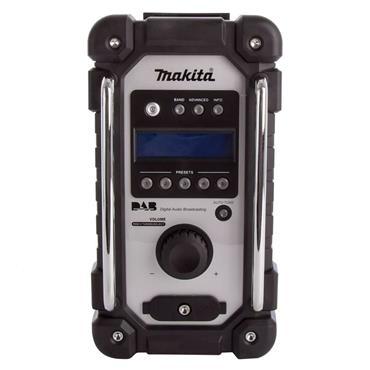 Makita DMR109W 7.2 - 18 Volt DAB Job Site Radio Body Only - White