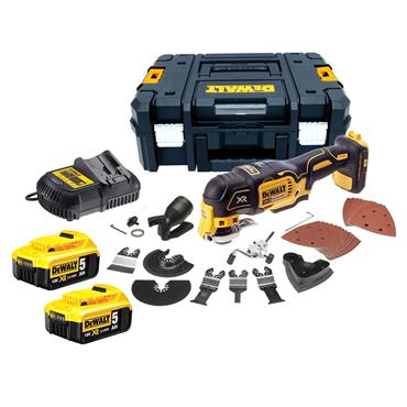 DeWALT DCS355P2 18 Volt XR Brushless Oscillating Multi-Tool, 2 x 5.0Ah Batteries
