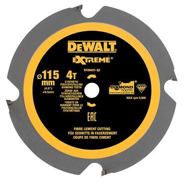 DeWALT 115 x 9.5 x 4T, Polycrystalline Diamond Circular Saw Blade - DT20421-QZ