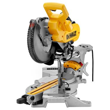 DeWALT DWS727 250mm Double Bevel Slide Mitre Saw with XPS