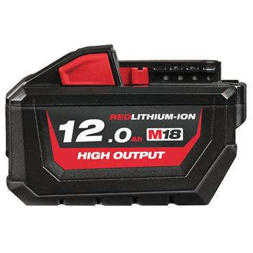 Milwaukee M18HB12 18 Volt High-Output Red Lithium-Ion Battery Pack, 1 x 12.0Ah Batteries