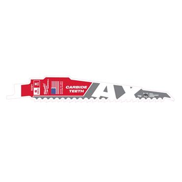 Milwaukee AX Heavy-Duty Carbide Teeth Demolition Sawzall Blades
