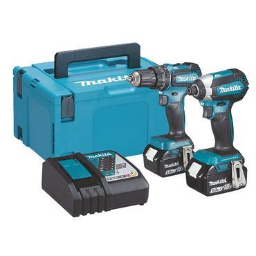 MAKITA DLX2283TJ 18 Volt Cordless Twin Kit, 2 x 5.0Ah Batteries