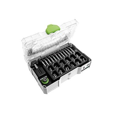 Festool 203817 CENTROTEC accessories set in MINI-SYSTAINER 74 Piece