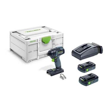 Festool 576483 18V TID 18 C 3,1-Plus Cordless Impact Screwdriver, 2 x 3.1Ah Batteries