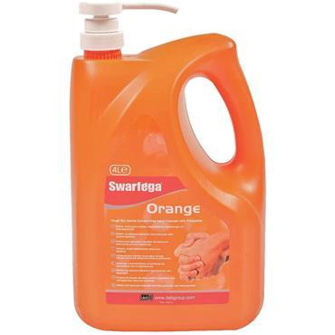 SWARFEGA SWL4LMP Solvent Free Lemon Hand Cleaner 4l Pump Bottle