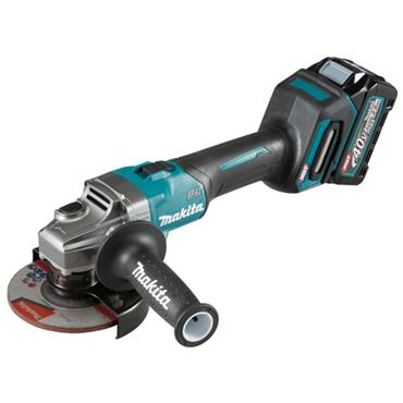Makita GA005GD101 40V max BL XGT Angle Grinder 125mm, 1 x 2.5Ah Battery