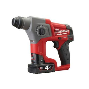 Milwaukee 12V  M12 CH-402C Fuel SDS Hammer, 2 X 4.0Ah Li-Ion Batteries