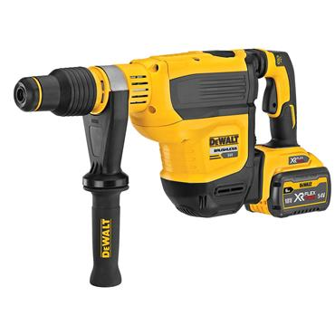 DeWalt DCH614X2-GB 54v XR FLEXVOLT Brushless SDS MAX Hammer Drill, 2 x  3.0Ah/9.0Ah Batteries