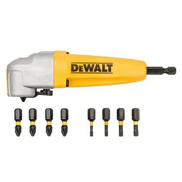Dewalt DT70619T-QZ  Impact Rated Right Angle Drill Bit Holder & 8 Bits
