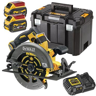 DeWalt DCS578T2 54V FlexVolt High Power Circular Saw 190mm 2 x 6.0Ah Batteries