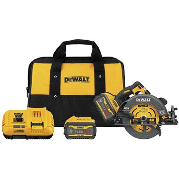 DeWalt DCS578X2  54V FlexVolt Brushless Cordless Circular Saw Kit , 2 x 9.0Ah Batteries