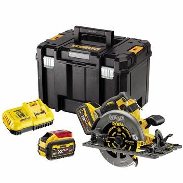DEWALT DCS579X2 54V XR FLEXVOLT 190mm Circular Saw, 2 X 9.0Ah Batteries