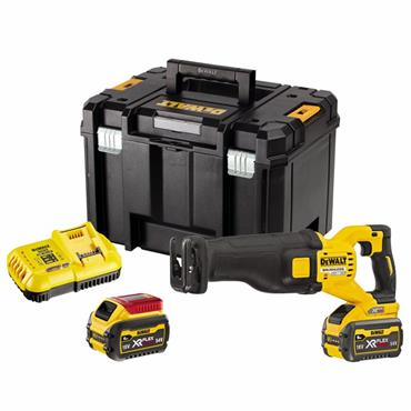 DeWalt DCS389X2 54V FlexVolt High Power Reciprocating Saw 2 x 9.0Ah Batteries
