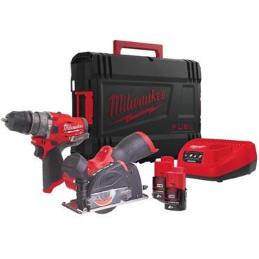 Milwaukee M12FPP2G-202X 12V  M12 FUEL Combi Kit, 2 x 2.0Ah Batteries