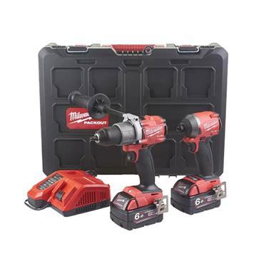 MILWAUKEE M18FPP2A2-602P 18V Fuel Combi Kit, 2 X 6.0Ah Batteries