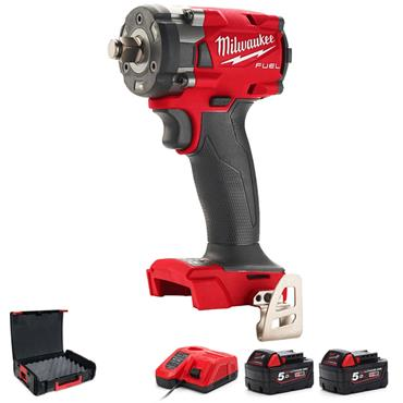 "MILWAUKEE M18FIW2F12-502X  18V CPIW 1/2"" Impact Wrench Kit"