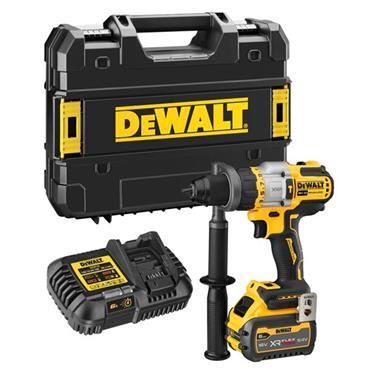 DEWALT DCD999T1-GB 18V XR XRP Hammer Drill with Flexvolt Advantage,  1 X 6.0Ah Batteries
